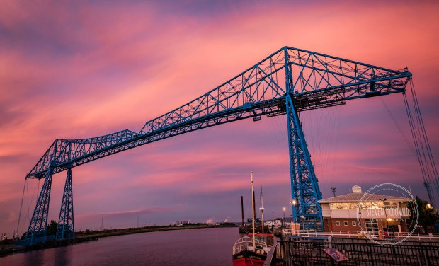 Transporter Bridge Middlesbrough Sunset Pano (1 of 1)